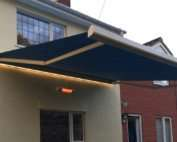 awning with heating and lighting